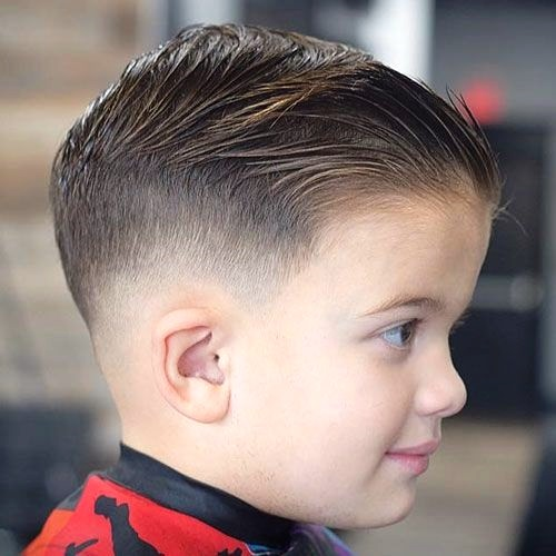 Boys Comb Over with Low Drop Fade