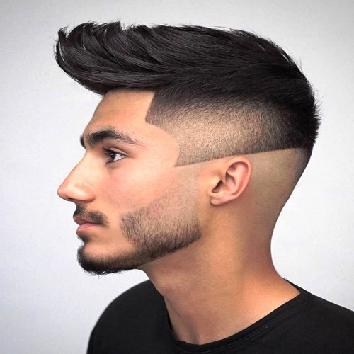 Cinched Top with Mid Skin Fade