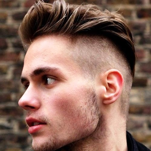 Disconnected Undercut with a Quiff on Top