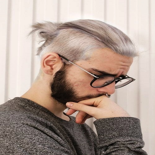 Long Undercut with a Chic Twisted Ponytail