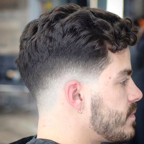 Messy Top with Skin Fade Sides