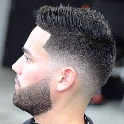 Sharp Part with TaperFade Haircuts for Men