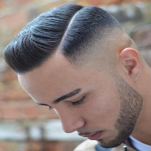 Side Part Undercut with Gradient Skin Fade Hairstyle for Men
