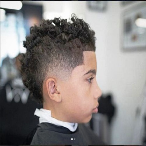 Tapered Curly Hair cut