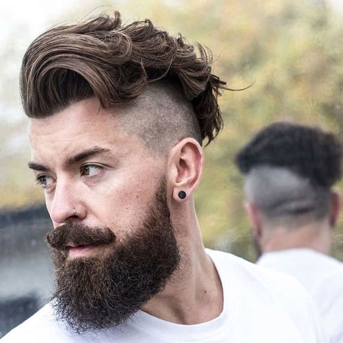 Textured and Short Undercut with a Beard