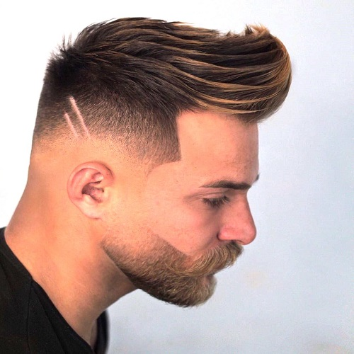 Undercut and Brushed up Faux Hawk
