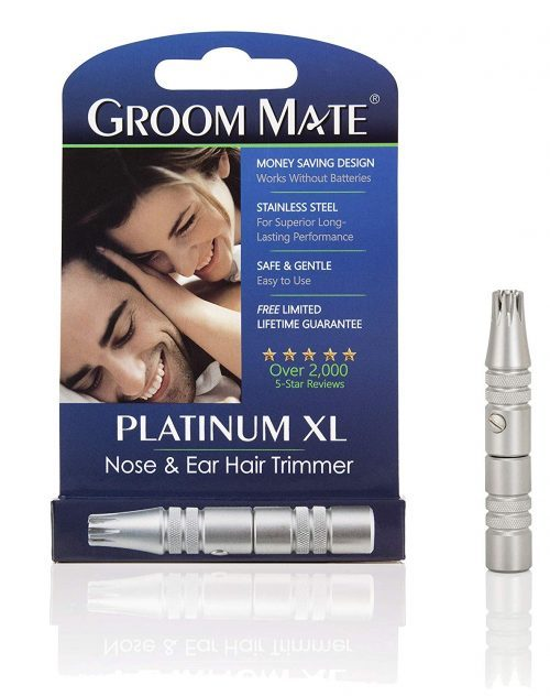 GROOM MATE PLATINUM XL BEST NOSE HAIR TRIMMER