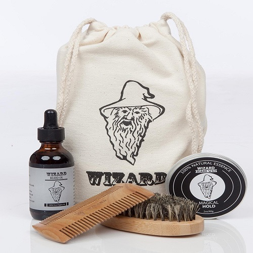 FACIAL HAIR CARE SET BY WIZARD